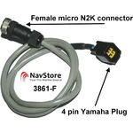 Oceanic Systems NMEA 2000 Device to Yamaha Hub Adapter Cable - 3861-F