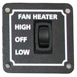 SMS W002-911.36 REAL Fan Heater Hi/Low Switch .36 12 vdc
