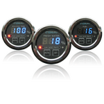 """Oceanic Systems Panel Gauge Fresh Water 2"""" Black Face - 3350-W"""