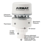 Airmar NMEA 0183/2000 Marine Based WeatherStation w/Relative Humidity  -  WS-120WX-RH