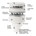 Airmar NMEA 0183 Marine, Mobile and Stationary Offshore Platform WeatherStation RS232 IPX7 - WS-200WX-RS232