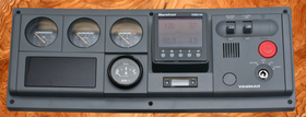 Illustration shows a Yanmar D-Panel with Tachometer gauge removed and replaced with a DSM150 multifuntion display.