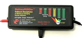 BatteryMINDer OnBoard Battery Restorer-Conditioner 24-Volt With Battery and Charging System Indicator OBD-24V