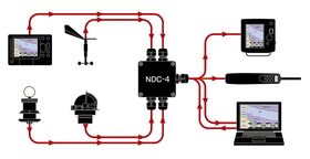 Actisense NDC-4-ASW NMEA 0183 Autoswitch Multiplexer (RS232/PC Port)