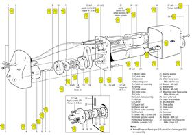 Raymarine Heavy Duty Gear Kit - Part Number N021 - Numbers 14 and 15 on diagram.