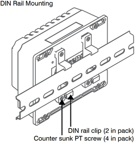 Optional Din Kit for NDC-5 - Clips only, rail not included.